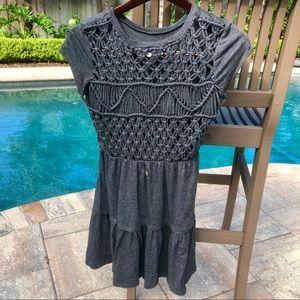 Billabong Grey crochet back dress